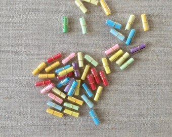 99pcs Clear Message in a Capsule - Cute Clear Message Pill - Kawaii Message Colorful Pill - Love Letter Capsules (was 8.00)