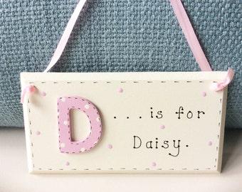 Personalised Door Plaque - Letter Plaque, Letters, Name Plaque, ABC, Child's Door Plaque, Name In Letters