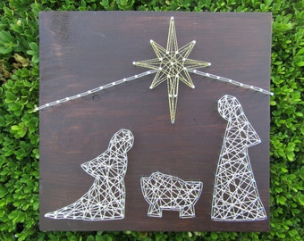 Nativity String Art *Made-to-Order*