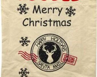 Personalised Santa Christmas Sack