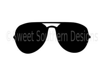 Sunglasses silhouette outline SVG instant download design for cricut or silhouette