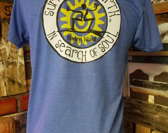 Surf The Earth, In Search Of Soul, Oval Tattoo T-Shirt Design