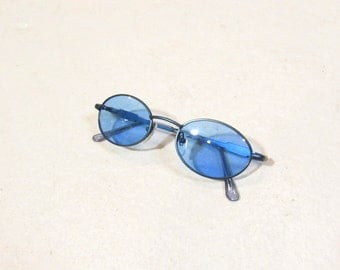90s blue lens sunglasses : NOS