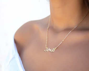 Custom Love Necklace - Bridesmaid Gifts - wedding party gifts - Love Necklace - Anniversary Gift -  Lover necklace -  Custom Heart Necklace