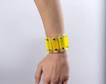 Electron Yellow (UV) Cuff Bracelet