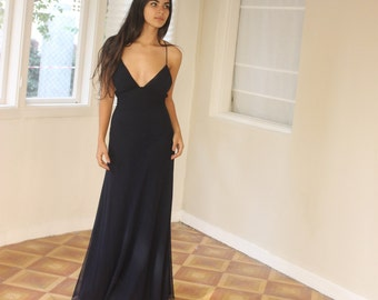 Black Dress, Long Dress, Maxi Dress, Black Party Dress, Evening Dress, Prom Dress, Black Long Dress, Open Back Dress, Custom Made Dress