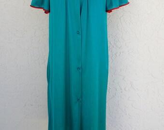 Short Sleeve Robe Vintage Summer Robe Dressing Gown 1970s Clothing  Vanity Fair