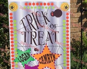 Halloween Trick or Treat  Flag