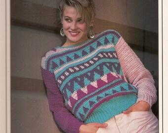 Vintage Geometric Sweater Crochet Pattern