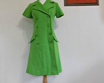 60's Mod Jonathan Logan Button Up Wrap Dress