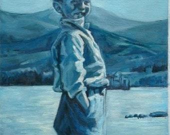 Commission a Custom Portrait - Oil Painting Portrait of your Loved Ones - Family Portrait - Child Portrait by Karina Lapierre