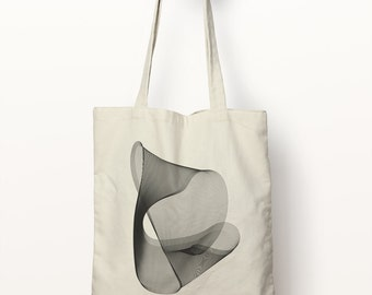 Screenprint Tote #2, Tote Bag, Abstract Art, Soundwave, Glitch, Eco Friendly, 100% Cotton, 42cm x 39cm