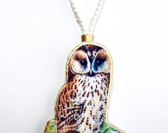 Wide-Eyed Owl Ornament