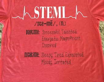STEMI tri blend short sleeve tee shirt