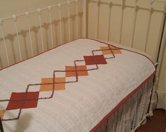 Argyle baby quilt with option for pillow