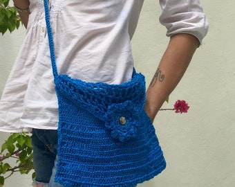 "Crochet Shoulder bag ""flower"""