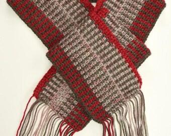 Crocheted Fringed Scarf