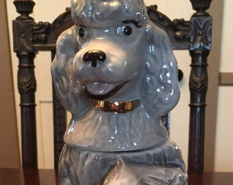 1970 Penny the Poodle Jim Beam Trophy Whiskey Decanter Advertising Bottle