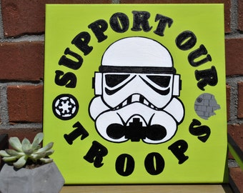 Support Our Troops canvas - trooper canvas
