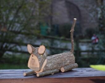 Wooden Cat
