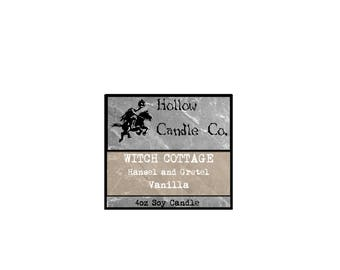 Witch Cottage - Hansel and Gretel Inspired - Soy Wax Candle - 4oz