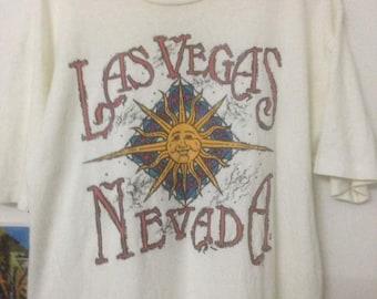Vintage Las Vegas Nevada Anvil Men T-Shirt Streetwear Size Medium