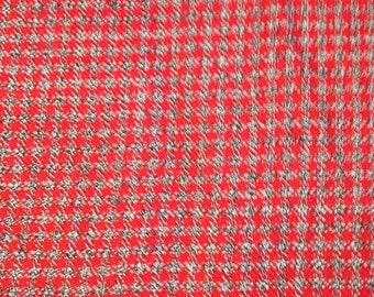 3 7/8 Yards 47 Wide 50s rayon plaid flannel dressmaking fabric