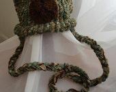 Items similar to Green & brown bear hat, knit, crochet ...