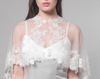 Bridal Cape, Bridal Capelet, Bridal Cover Up, Bridal Separates, Cape, Lace Capelet, Bridal Lace Capelet, Lace Cape, Wedding Cape, Margaret