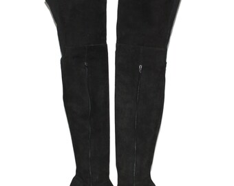 Vintage DKNY Donna Karan OTK BOOTS Black Suede 8B