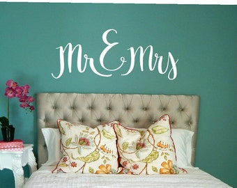 MR AND MRS Decal / mr and mrs sign, mr and mrs wall decal, mr and mrs wall decor, mr and mrs, mr and mrs decor, wall sign, wedding decals