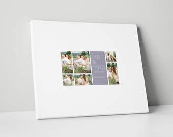 Photo Wedding Guest Book Canvas, Various Sizes, Wedding Guest Book, gb0077