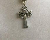 Silver Celtic Cross Neclace