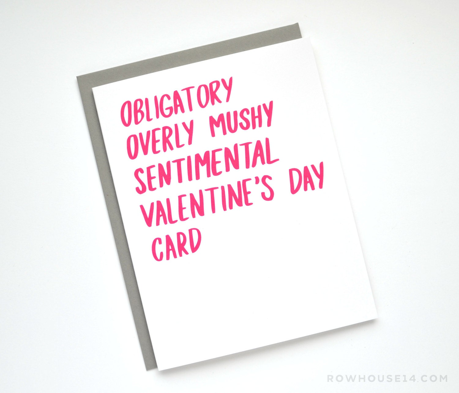 Valentine Card Funny Valentines Day Card Obligatory – Mushy Valentine Cards