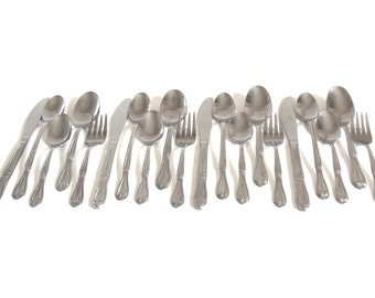 Lightweight Flatware Set Picnic Silverware Superior Stainless USA Service for 4