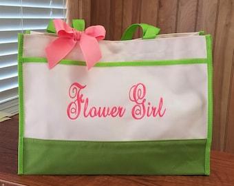 Flower Girl Tote Bag Personalized Flower Girl Bag Wedding Gift