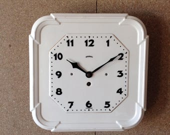 Large Ceramic Wall Clock - Ingersoll Clock - Art Deco Wall Clock - Vintage Ceramic Clock