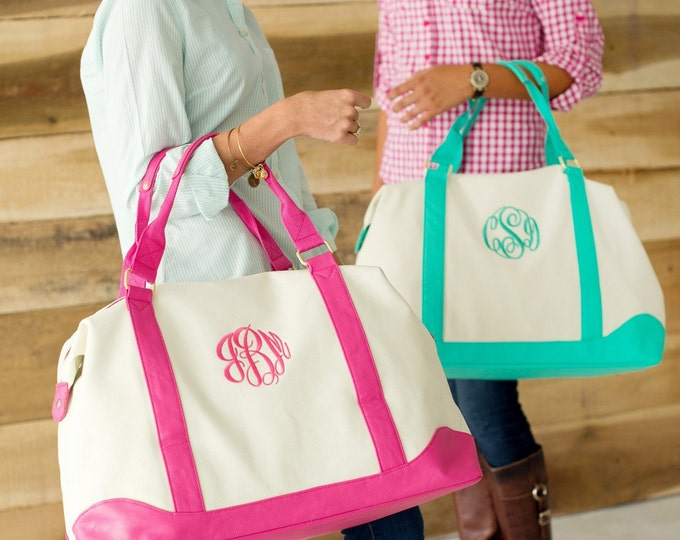 Monogrammed Weekend Bag, Monogrammed Duffle Bag, Monogrammed Overnight bag, Bridesmaid Gifts, Monogrammed Gifts