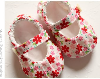 Baby Shoe Pattern - Ruched Mary Janes - Sizes 1 to 5