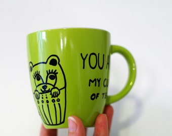 Youre MY PERSON gift for friend Green tea lover mug Green tea mug - best friend gift - birthday gift for wife - my person husband gift