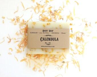 SOAP Homemade Soaps Vegan Soap All Natural Soap Sensitive Skin Soap  Unscented Soap Handmade Calendula Soap Stocking Stuffer Christmas Gift
