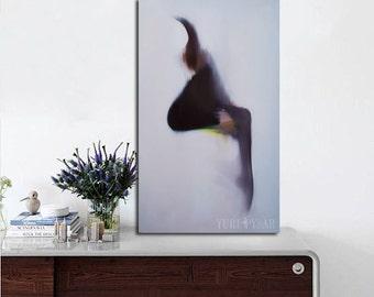 Modern art print - Woman print of painting - Contemporary Wall Art - Abstract Art - Giclee Canvas Print - Dancer Print - Fine Art Print