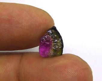 Watermelon Tourmaline Natural Crystal Natural slice Gemstone semi precious 3.95carats (WM.20)