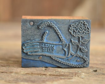 Embossing seal press etsy for Metal stamping press for jewelry