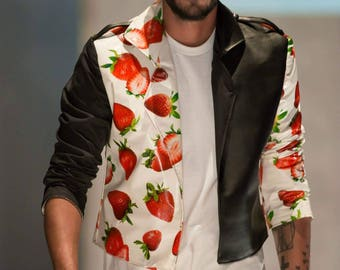 Strawberry Biker Jacket