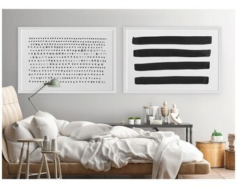 Abstract Wall Art, Black and White Abstract Art Print, Print Set, Heart Print, Large Abstract Art,Minimalist Art,Large Print,Modern Wall Art