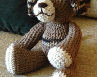 "Crocheted puppy dog stuffed animal doll toy ""Hunter"""