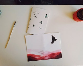 Illustrated zine about birds, landscape in The Netherlands with poems. (dutch)