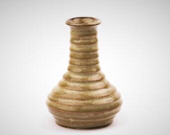 Ceramic Ridged Single Flower Vase