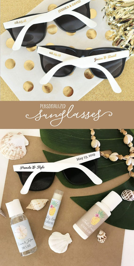 Personalized Sunglasses For Wedding Party | Louisiana Bucket Brigade
